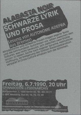 Alabasta Noir Schwarze Lyrik und Prosa