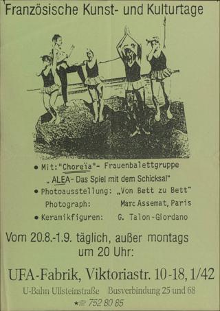 """Französische Kunst- und Kulturtage mit der Frauenballetgruppe """"Choreia"""""""