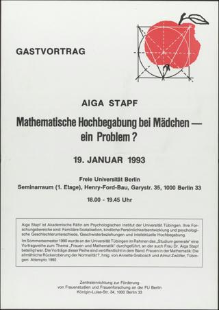 Mathematische Hochbegabung bei Mädchen - ein Problem?