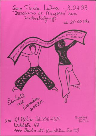 """Wenn ich nicht tanzen darf ... E. Goldmann"" Gran-Fiesta Latina"