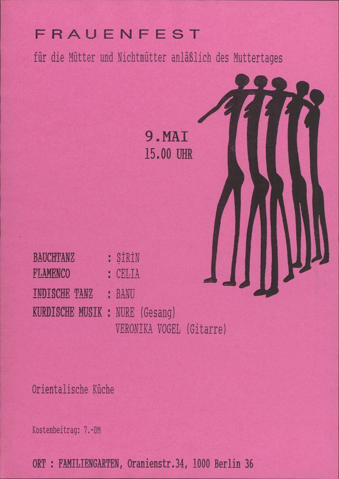 Frauenfest für Mütter und Nichtmütter im Familiengarten, Berlin-Kreuzberg