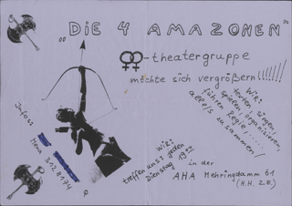 """""""Die 4 Amazonen"""" Lesben-Theatergruppe möchte sich vergrößern !!!"""