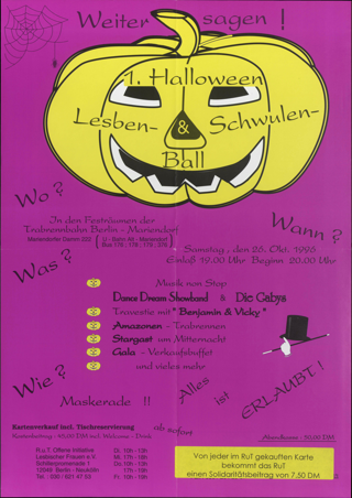 Erstes Halloween Lesben und Schwulenball