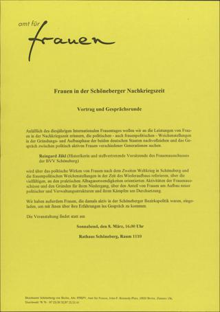 Frauen in der Schöneberger Nachkriegszeit
