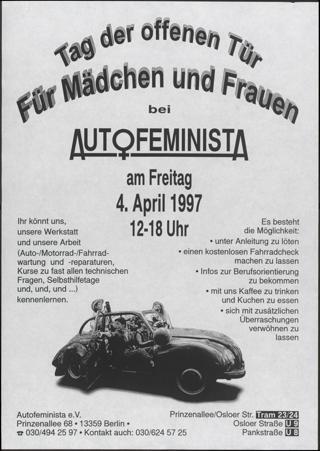 Tag der offenen Tür für Mädchen und Frauen bei Auto feminista e.V.