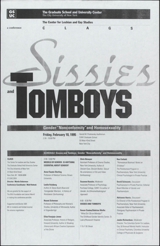 """Sissies and Tornboys\[W9]\Gender """"Nonconformity"""" and Homosexuality"""