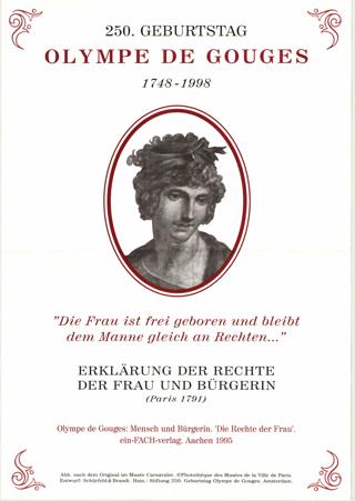 250. Geburtstag Olympe de Gouges 1748-1998