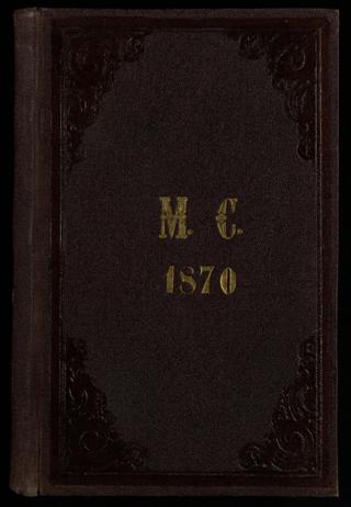 Tagebuch M.C. 1870