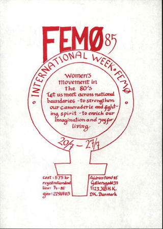 Femö 85 : International week Femö ; 20.7. - 27.7.1985