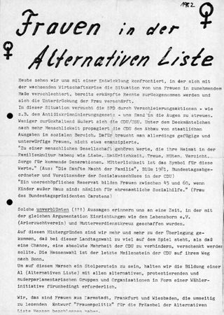 Frauen in der Alternativen Liste