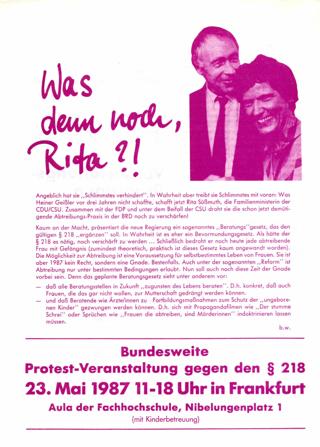 Was denn noch, Rita?!