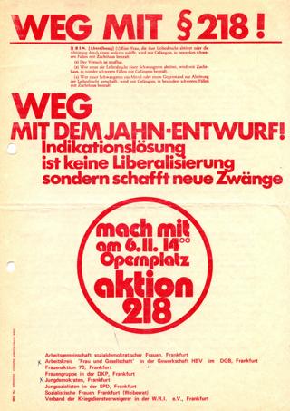 Weg mit § 218! : Weg mit dem Jahn-Entwurf!