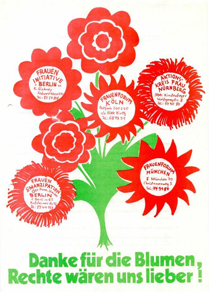Danke für die Blumen, Rechte wären uns lieber!