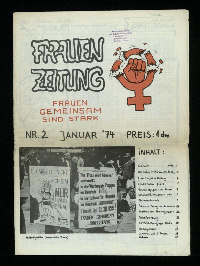 Frauenzeitung : Frauen gemeinsam sind stark (1974)2 / Seite 1