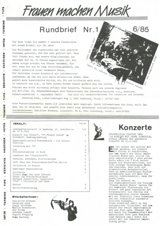 Rundbrief 1