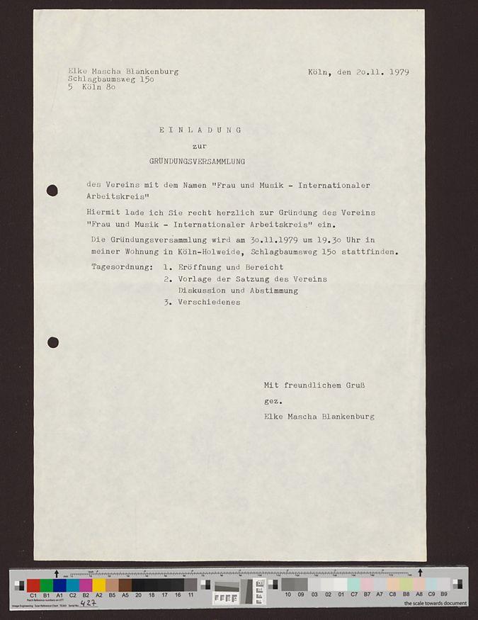 Dokumente zur Gründungsversammlung