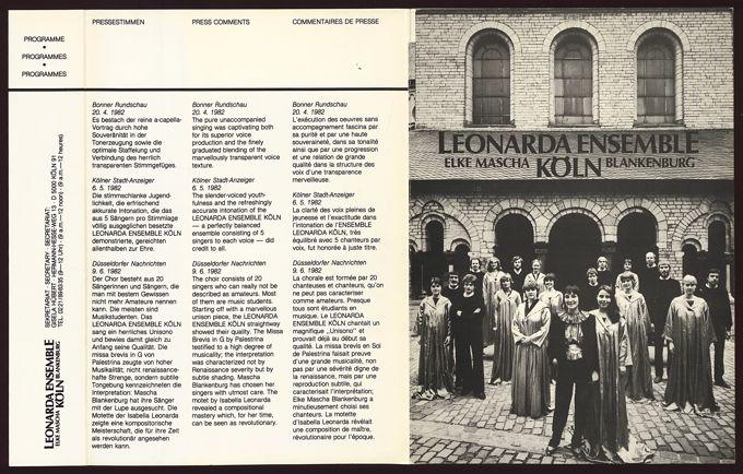 Leonarda Ensemble Köln, Elke Mascha Blankenburg