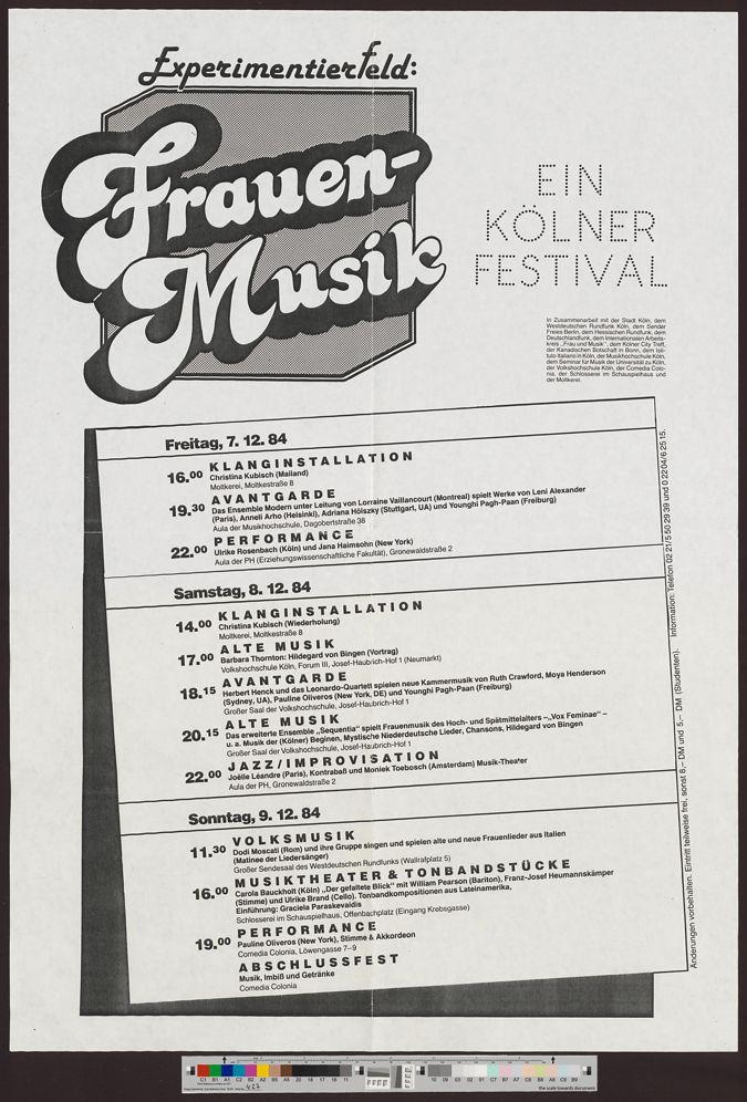 Experimentierfeld: Frauen-Musik