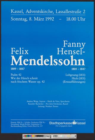 Fanny Hensel-, Felix Mendelssohn