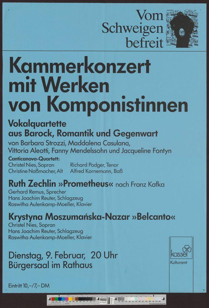 Kammerkonzert mit Werken von Komponistinnen