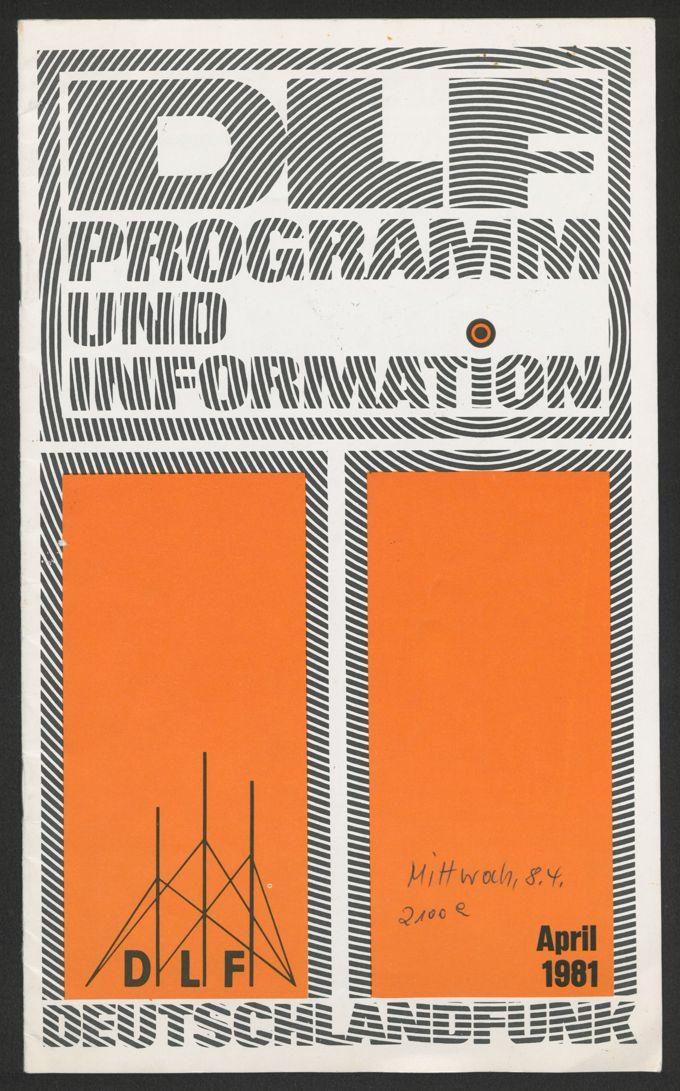 Programm: Deutschlandfunk April 1981 / Seite 1