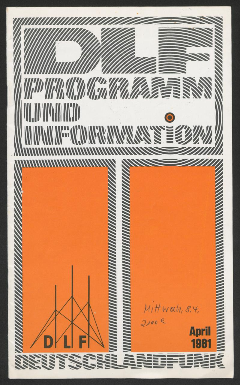 Programm: Deutschlandfunk April 1981