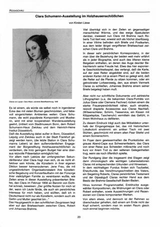 Clara Schumann-Ausstellung im Holzhausenschlößchen