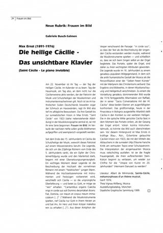 Max Ernst: Die heilige Cäcilie - Das unsichtbare Klavier