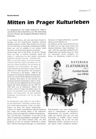 Mitten im Prager Kulturleben.