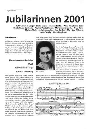 Jubilarinnen 2001