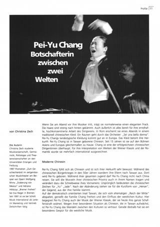 Pei-Yu Chang, Botschafterin zwischen zwei Welten