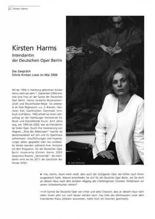 Interview mit Kirsten Harms, Intendantin der Deutschen Oper Berlin