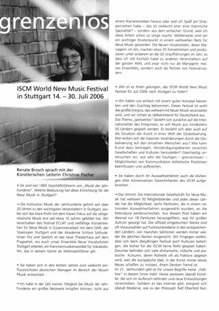 ISCM World New Music Festival in Stuttgart 14. - 30. Juli 2006