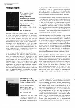 Frau Musica heute- Konzepte für Kompositionen, Rheinsberger Pfingstwerkstatt Neue Musik