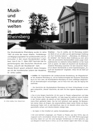 Musik und Theaterwelten in Rheinsberg