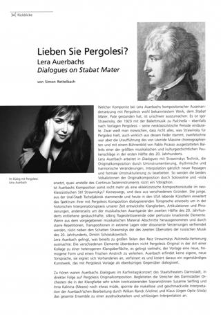 Lieben Sie Pergolesi?
