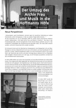 Der Umzug des Archiv Frau und Musik in die Hoffmanns Höfe