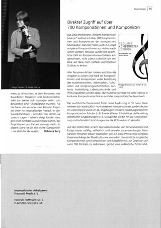 Direkter Zugriff auf über 700 Komponistinnen und Komponisten