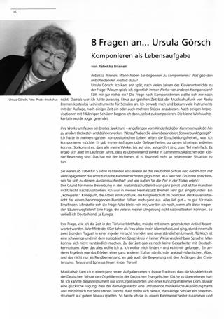 8 Fragen an...Ursula Görsch