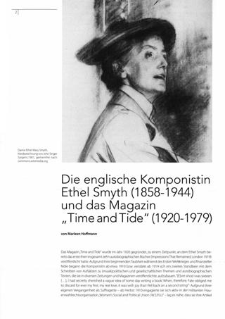 Die englische Komponistin Ethel Smyth (1858-1944) und das Magazin ,,Time and Tide