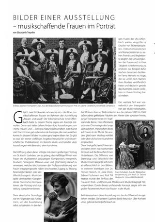Bilder einer Ausstellung - musikschaffende Frauen im Porträt