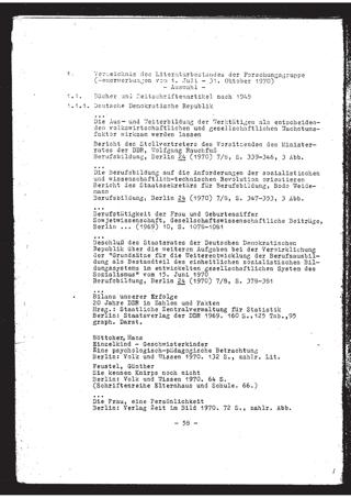 Verzeichnis des Literaturbestandes der Forschungsgruppe : Neuerwerbungen vom 1. Juli - 31. Oktober 1970 ; Auswahl