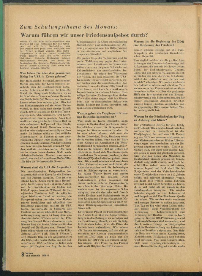 Zum Schulungsthema des Monats : warum führen wir unser Friedensaufgebot durch? / Seite 1