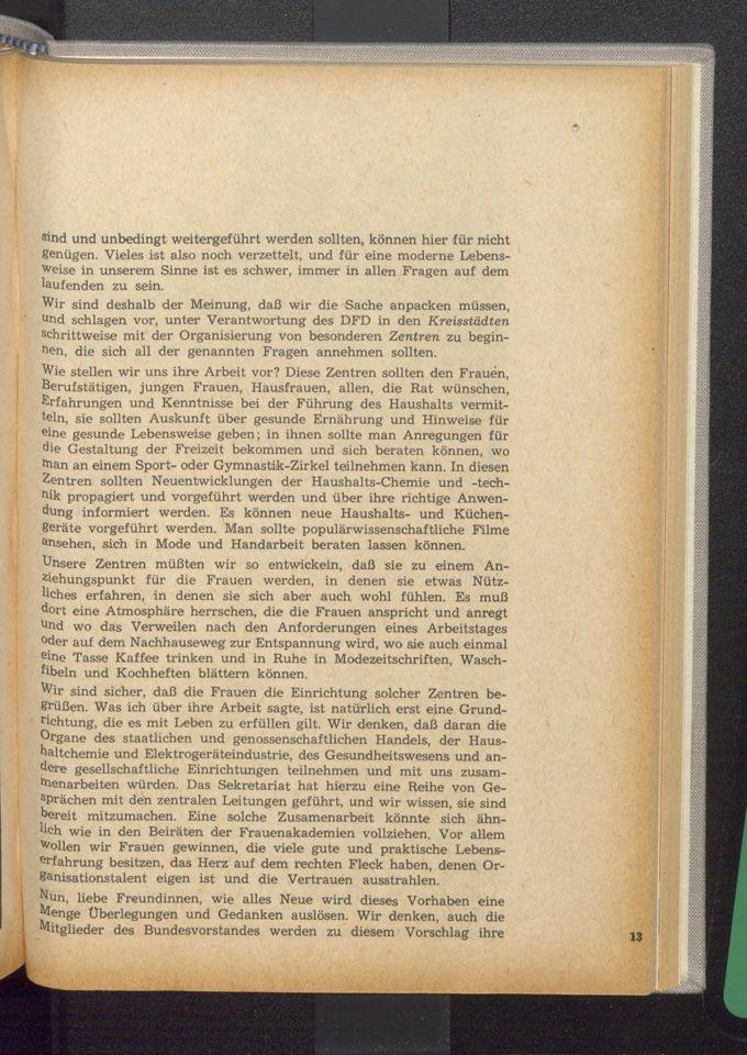 Die Aufgaben des DFD nach dem VIII. Parteitag der SED und die Wahlen zu den Vorständen der Organisation / Seite 13