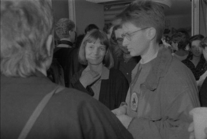 Veranstaltungsflyer Ina Merkel Januar 1990 RHG