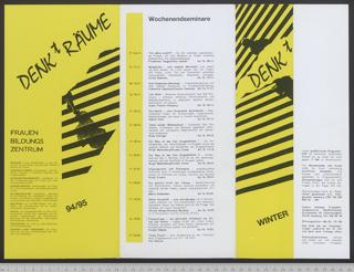 Frauenbildungszentrum DENKtRÄUME : Archiv - Bibliothek; Programm Winter 94/95
