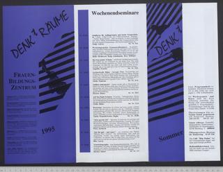 Frauenbildungszentrum DENKtRÄUME : Archiv - Bibliothek; Programm Sommer '95