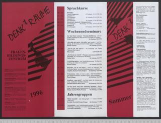 Frauenbildungszentrum DENKtRÄUME : Archiv - Bibliothek; Programm Sommer '96
