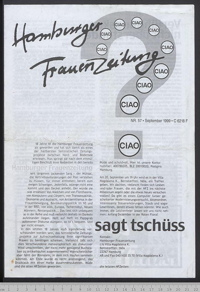 Hamburger Frauenzeitung 19(1999)57