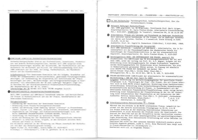 Hamburger Frauen-Vorlesungsverzeichnis